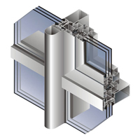 Система фасадного остекления  ALUTECH F50