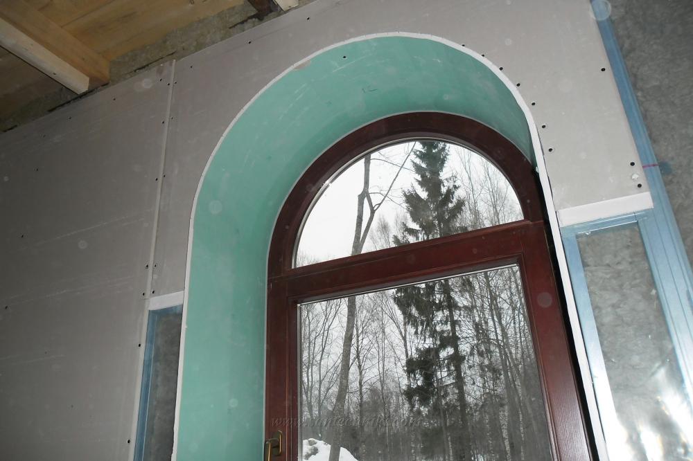 Арка окна из гипсокартона своими руками 3872