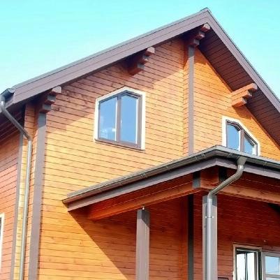 Окосячка и пластиковые окна в дом из бруса в поселке Истра